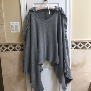 Grey sweater cape